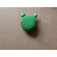 Wholesale Knitted Kickball Crochet Toy Squeaky Froggy Dog Toy Cartoon Frog Green from china suppliers