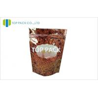 Wholesale PET / PE Ziplock Stand Up Pouches 250g Coffee Bean Plastic Gravure Printing from china suppliers