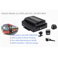 Wholesale 1TB HDD Support 4 Channels 720P AHD Cameras Car DVR Recorder 3G / 4G GPS WIFI from china suppliers