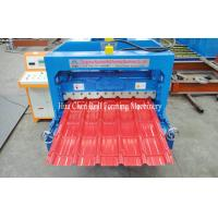 Wholesale Hydraulic Cr12 Cutting Blades Roofing Step Tile Roll Forming Machine With PLC Control from china suppliers