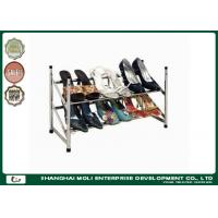 Wholesale Customized metal shoe display racks shelf storage unit two layer , Power coated from china suppliers
