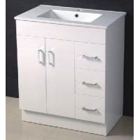 Wholesale 750mm MDF High Glossy Bathroom Vanity with Kickboard from china suppliers