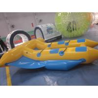 Wholesale Large Fashion Yellow Blue Inflatable Fly Fish Banana Boat Custom Made from china suppliers