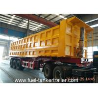 Wholesale 70 - 80 Tons Side dumping trailer with JOST 3 . 5 inch traction pin with Hyva lifting cylinder from china suppliers