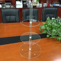 Wholesale 4 tiers acrylic wedding cake display rack from china suppliers