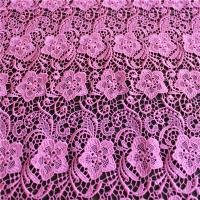 Wholesale China supplier hot selling 100% red flower polyester lace fabric for dress from china suppliers