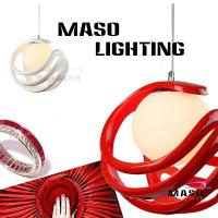 Wholesale Rope adjustable red color E27 lamp holder indoor resin pendant lamp 60w ball shape from china suppliers