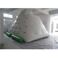 Wholesale Funny Large Inflatable Water Toys , 0.55 - 0.9mm PVC Tarpaulin Inflatable Iceberg With Manual / Blower from china suppliers