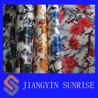 Wholesale Environmental Knitted Microfiber Synthetic Leather With Flowers Printing from china suppliers