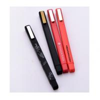 Wholesale advertising square  frosted logo brand company pen, corperate name brand plastic ball pen from china suppliers