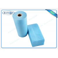 Wholesale 100% Flesh PP Nonwoven Bed Sheet , Medical Bed Sheets Blue Color Packing In Roll from china suppliers