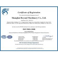 Shanghai Beyond Machinery Co., Ltd Certifications
