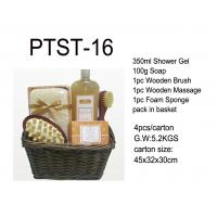 Wholesale Basket Bubble Bath Set Shower Gel / Soap / Wooden Brush / Wooden Massage from china suppliers