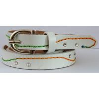 Wholesale thin waist belts with sewing and rhinestone in leather from china suppliers