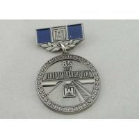 Wholesale 32mm Zinc Alloy Custom Medal Awards Soft Enamel , Antique Nickel Plating from china suppliers