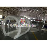Wholesale 0.9mm PVC Inflatable Airtight Tent With Pipe , Transparent Backyard Camping Tent from china suppliers