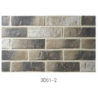 Quality 3D51-2 Clay Thin Veneer Brick Low Water Absorption For Interior /Outdoor Brick Veneer for sale
