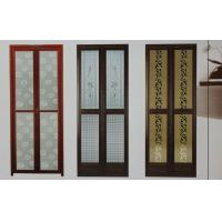 Wholesale 1.0mm profile thickness powder coated aluminum bifold doors for bathroom, kitchen from china suppliers