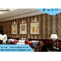 Wholesale Household TV Background Classic Design Wallpaper With Velvet Wall Covering , European Style from china suppliers