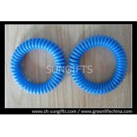 Wholesale Solid blue wrist coil hot sale expanding spring key coil for number tags from china suppliers