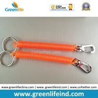 Wholesale Delux Orange Safe Spiral Coil W/Metal Swivel Hook&Split Ring from china suppliers