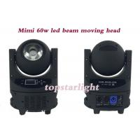 Buy cheap Professtional DJ Disco Light IP20 DMX Mini 60W LED Beam Moving Head Light from wholesalers