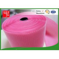 Custom Color Wide Velcro Hook & Loop Fastening Tape 100% Nylon Light Pink