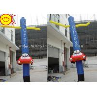 Wholesale Blue Ripstop Oxford Nylon Silk Inflatable Air Dancer With A Mini Car And Two Hands from china suppliers
