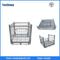 Buy cheap Collapsible Galvanized Wire Steel Mesh Storage Cages For Warehouse from wholesalers