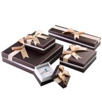 Wholesale Stylish Design Cardboard Jewelry Gift Boxes With Bow Velvet Foam Insert from china suppliers