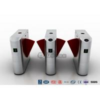 Wholesale Entrance Flap Pedestrian Turnstile Gate SUS 304 With Fingerprint Recognition System from china suppliers
