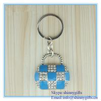 Wholesale Shinny Gifts Diamond handbag shape promo key chain from china suppliers