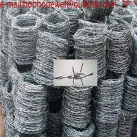 Wholesale Barbed Wire Length Per Roll Wire Diameter 2.5MM*2.2MM/Stadium galvanized military barbed wire length per roll from china suppliers