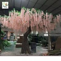 Wholesale UVG WIS007 6m pink huge silk wisteria blossom fake trees for weddings from china suppliers