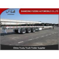 Wholesale Over Length Flatbed Extendable Semi Trailer Double / Three Steering Axles  from china suppliers