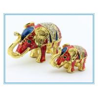 Wholesale Elephant Mother and Son Jewelry box for decoration from china suppliers