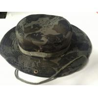 China Men's Cheap Custom Hat Striped Woodland Desert Camouflage Boonie Hat on sale