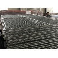 "Wholesale Chain Link Fence Panels 6' x 14' cross brace mesh 57mm x 57mm x 2.8mm wire tube 1½""(38mm) x 16 gague from china suppliers"