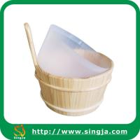 Buy cheap High quality wooden sauna bucket from wholesalers