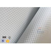 Quality 220g 0.2mm Checked Aluminized Fiberglass Fabric For Decoration for sale