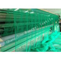 Wholesale Sea Green HDPE Plastic Fishing Nets , Durable Knotted PE Rope Netting 40gsm - 150gsm from china suppliers
