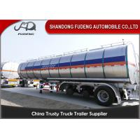 Quality 304 Stainless Steel 15000 Gallon 35000L Diesel / Gasoline Tank Trailer With 12 Wheeler for sale