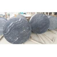 Wholesale Marble Table Top Guangxi Black Wood Vein Marble Round Table Top China Marble Table Top from china suppliers