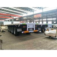 Buy cheap 4 axle 60 ton trucks and trailers flatbed semi trailer for sale from wholesalers