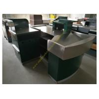 Wholesale Glossy Stainless Steel Supermarket Checkout Counter / shop cash counter from china suppliers