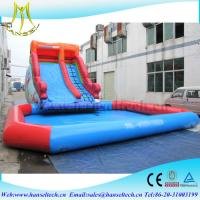 Wholesale Hansel red and blue kids amusement park equipment inflatable climbing structure water pool sidel from china suppliers