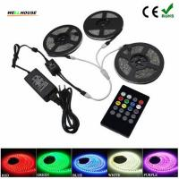 Wholesale 15M 10M 5050 RGB Tape 30led/m Flexible Waterproof Led Strip light+ Music Remote Controller +110V/220V Power supply from china suppliers