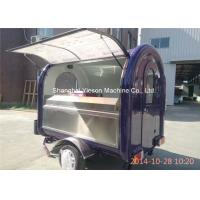 Quality Two Big Tires On Wheel Mobile Kitchen Trucks Concession Trailers for sale