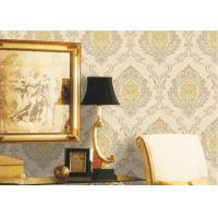 Wholesale Mulit Color Velvet Flock Wallpaper Strippable With 1.06*10M Size , Non - Pasted Style from china suppliers