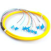 Wholesale LC / UPC Fiber Optic Jumper Cables , G657A Yellow Simplex Fiber Patch Cord from china suppliers